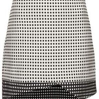 Tall Contrast Gingham Wrap Skirt