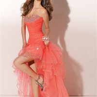 Beaded Sweetheart Neckline Organza Prom Dresses PDM114 - Wholesale cheap discount price 2012 style online for sale.