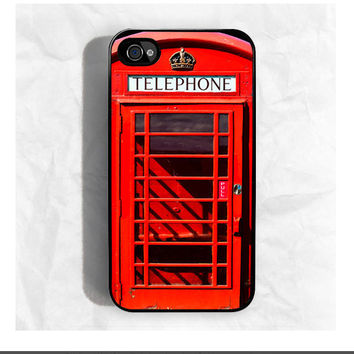 Red British Phone Booth iPhone Case / Fits iPhone 4 4s by CRAFIC