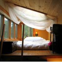 Loft Bed with Canopy--The Architecture Blog