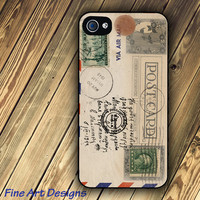 iphone 4 case and iphone 4s case with Vintage by FineArtDesigns