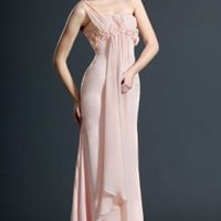 New Sweety One Shoulder Pink Evening Dress - Basadress.com