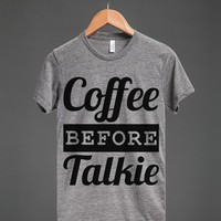 COFFEE BEFORE TALKIE T-SHIRT (IDD060832)
