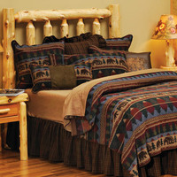 Cabin Bear Deluxe Bedding Set : Log Cabin Styles