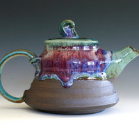 Glacier Teapot Handmade Stoneware Teapot by ocpottery on Etsy