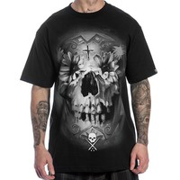 Men's Flower Skull Tee by Sullen Clothing (Black)