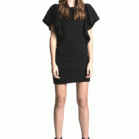 Let the boys fall head over heels with the Iconic Flare Shoulder Caps Bodycon Dress! This cap sleeve dress features thick & mega stretch fabrication, statement water-fall-ruffle quilted flared shoulder caps, scoop neckline, form fitting. Pair with black st