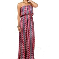Multi Color Blousant Maxi Dress