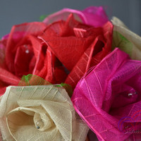 Artificial Rose Lights Love Wedding Tone Color 20 Rose / Set