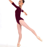 Free Shipping - Adult 3 4 Sleeve Dance Leotard by NATALIE