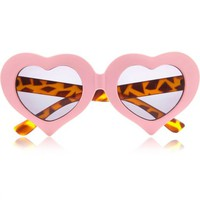 Light pink heart sunglasses - retro sunglasses - sunglasses - women