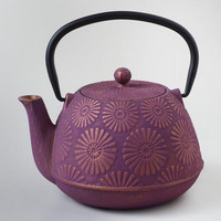 Plum Flower Cast Iron Teapot - World Market
