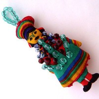 Folk Art Girl Ornament | kathisewnsew - Seasonal on ArtFire