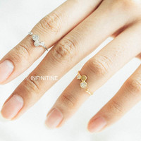 Star and round mouse adjustable knuckle ring,jewelry rings,fashion rings,anniversary ring, unique rings,rings for women,girls rings