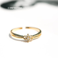 cz star flower adjustable knuekle ring,Jewelry,Ring,CZ ring,stack ring,tiara ring,wedding,bridesmaid gift ,feminine ring, flower ring