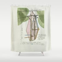 Everyone's going to the moon Shower Curtain by anipani