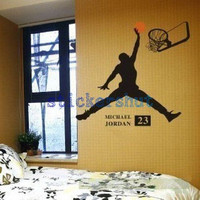Vinyl  Basketball decal  sports Wall decal basketball decor boys room wall decal 23