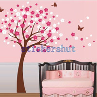 Cherry Blossom Nursery Decal Cherry Blossom wall Decal  Cherry Blossom art for girl floral wall decor