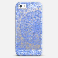 Cornflower Blue Transparent Lace iPhone 5s case by Micklyn Le Feuvre | Casetagram