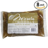 Miracle Noodle Garlic and Herb Shirataki, 7-Ounce (Pack of 8)