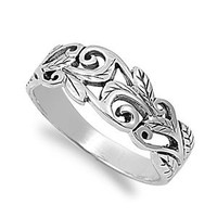 Acacia Leaves Filigree Ring Sterling Silver 925