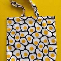 Black And Yellow Eggs Shoulder Bag.