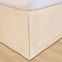 "Veratex ""Hike Up Your Skirt"" Matte Satin Bedskirt in Ivory - 455 - Bed & Bath"