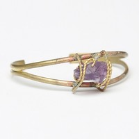 WRAPPED PURPLE STONE BANGLE