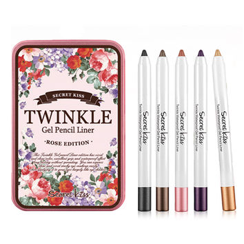 Secret key - TWINKLE Waterproof Gel Pencil Liner 0.8g x 5ea - Secret Key Beautynetkorea