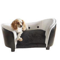 Snuggle Dog Bed - Black & White