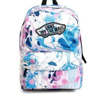 Vans Realm Backpack in Marble Print
