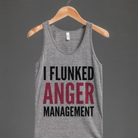 I Flunked Anger Management Tank Top (idb712127)-Athletic Grey Tank