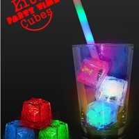 Light Up Party Reusable Rainbow Ice Cubes (1 cube)