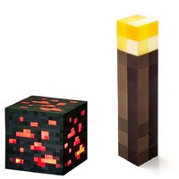 Minecraft Light Up Torch and Redstone Ore Set Of 2