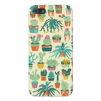 Cactus Pattern Fabric iPhone 5 Case