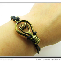 Black Ropes Steampunk Bracelet Hunger Games by sevenvsxiao