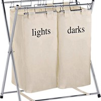 Buy Living Folding Double Canvas Laundry Sorter - Natural at Argos.co.uk - Your Online Shop for Linen baskets and laundry bins, Linen baskets and laundry bins.
