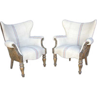 dos gallos - Pair of Lambskin Chairs - 1stdibs