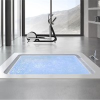 Built-in whirlpool bathtub BOLLA Q190 SFIORO Bolla Collection by HAFRO | design Franco Bertoli