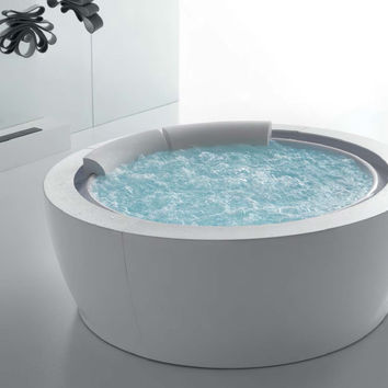 Whirlpool round bathtub BOLLA 190 SFIORO Bolla Collection by HAFRO | design Franco Bertoli