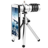 XCSOURCE® 12X Zoom Magnifier Micro Telephoto Telescope Camera Lens Tripod for Samsung Galaxy S4 I9500 DC321