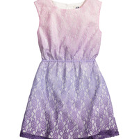 H&M - Lace Dress - Light purple - Kids