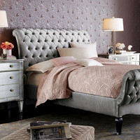Haute House - Platinum Tufted Bed - Horchow