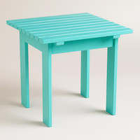Baltic Blue Classic Adirondack Side Table - World Market
