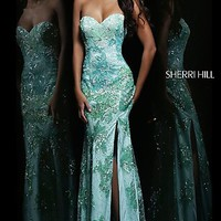 Sherri Hill Sequin Pageant Gown 9707