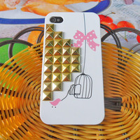 IPhone 4 iPhone 4s  hard Case with Golden by braceletbanglecase