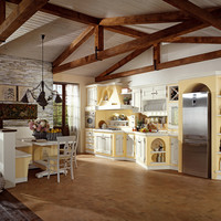 Classic style kitchen with handles ANITA by Cucine Lube