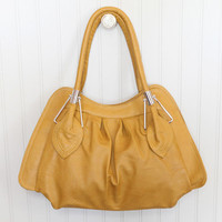 leaf bag in mustard - &amp;#36;42.99 : ShopRuche.com, Vintage Inspired Clothing, Affordable Clothes, Eco friendly Fashion