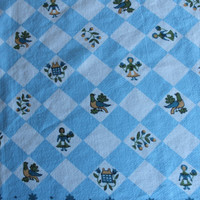 Vintage Linens blue and white  Tablecloth mid by purrfectstitchers