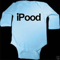 iPOOD FUNNY iPOD SPOOF BABY BOY BLUE BODYSUIT LONG SLEEVED | KoolKidzClothing - Clothing on ArtFire